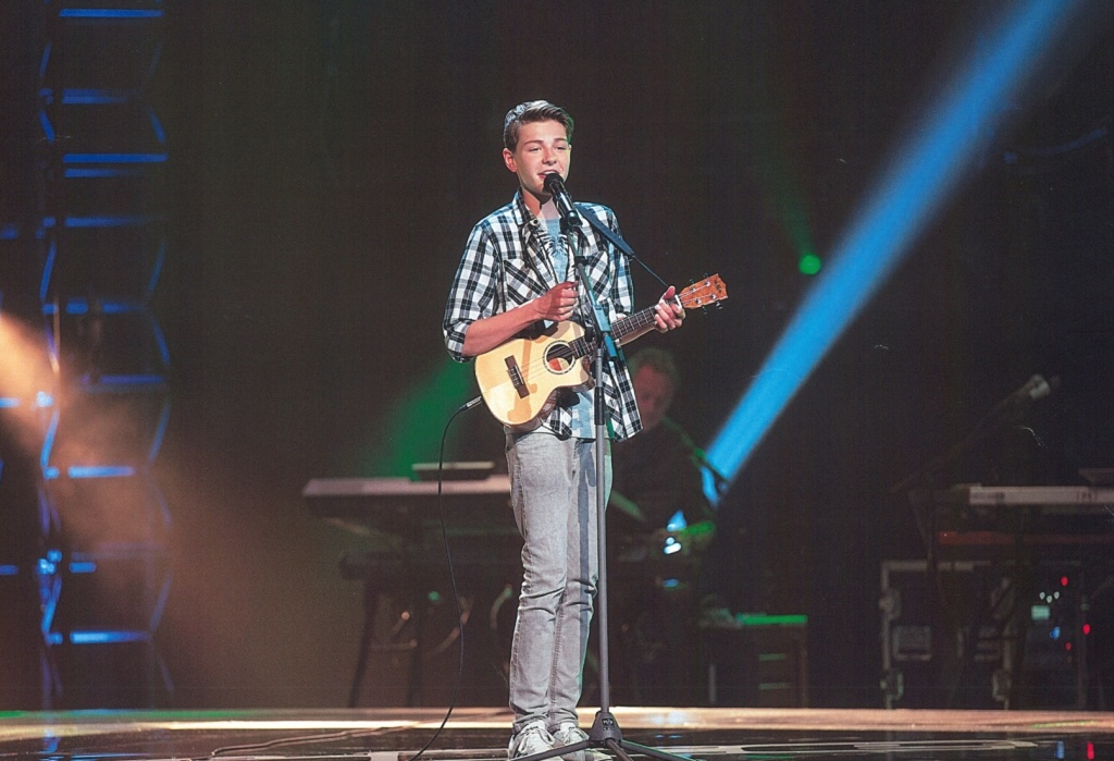 Jaco tijdens zijn blind audition bij The Voice Kids